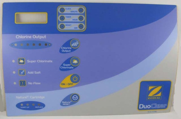 Duo Clear Power Pack Label - Genuine Zodiac Spare Parts